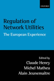 Regulation of Network Utilities