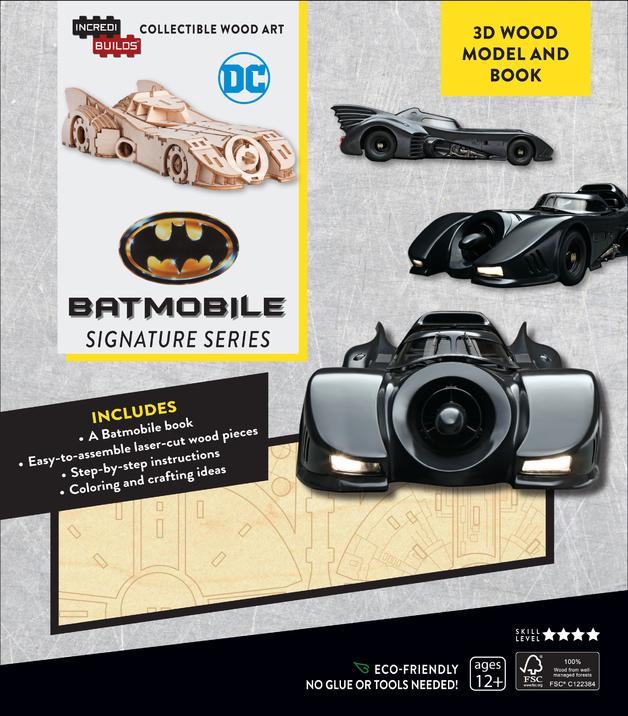 IncrediBuilds: Signature Series 3D Wood Model and Book - Batmobile