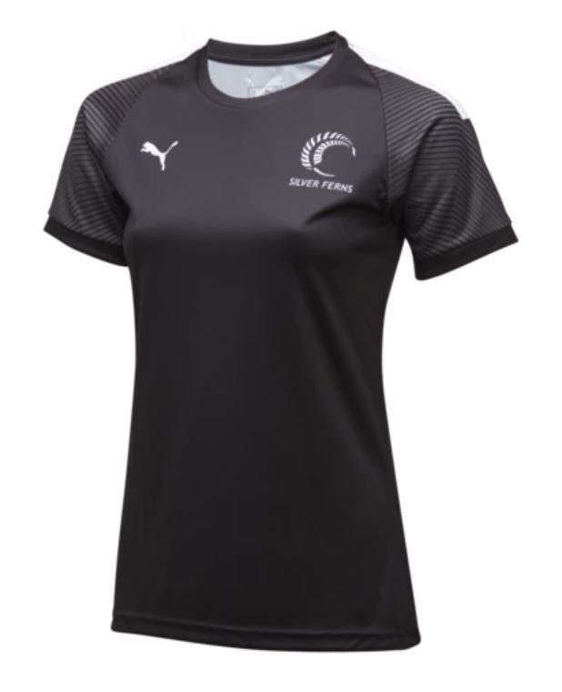 Puma Silver Ferns Training Jersey Black/White (Large)