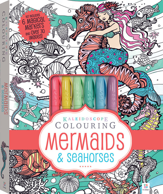 Kaleidoscope: Colouring Kit - Mermaids & Seahorses