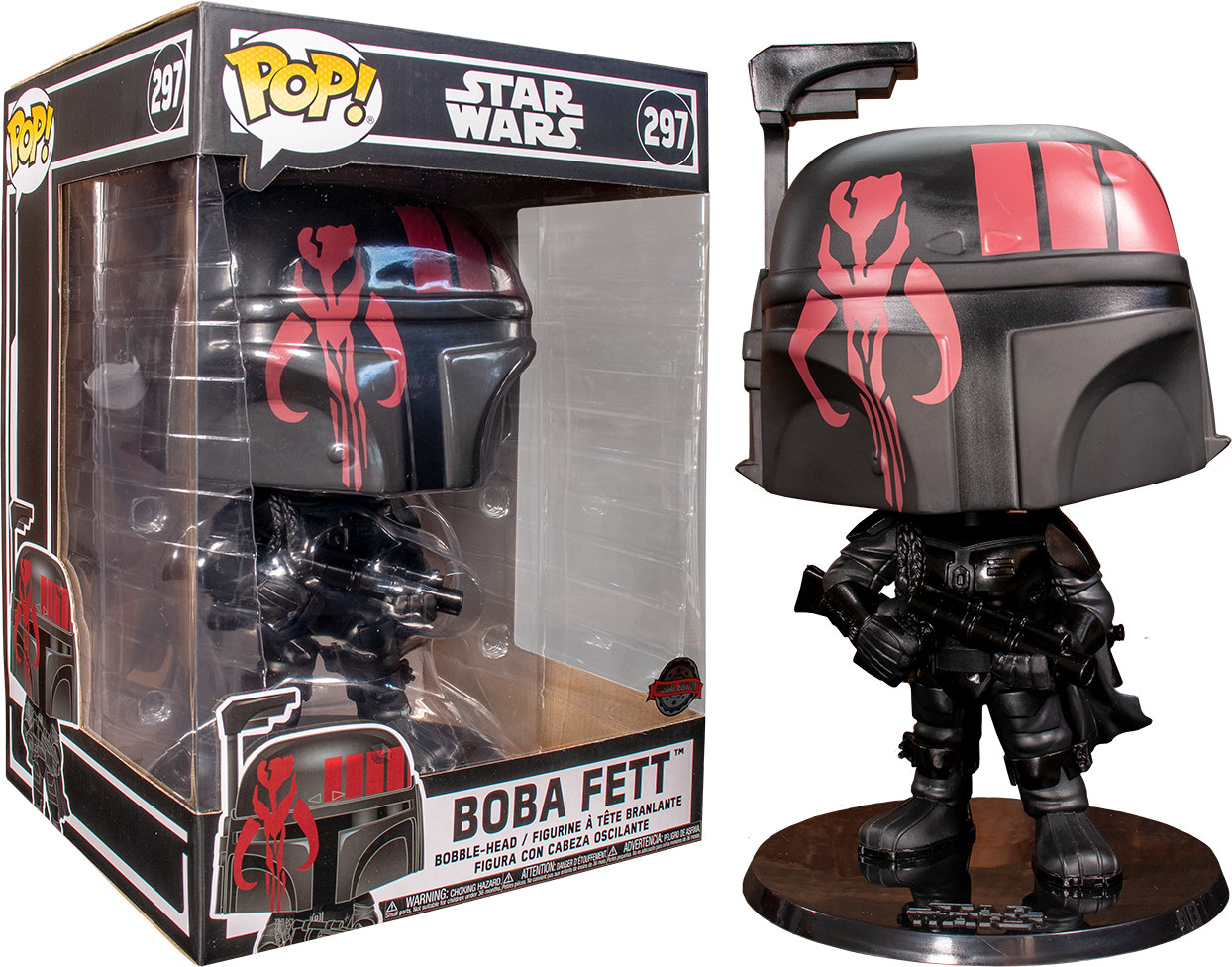 "Star Wars: Boba Fett (Black Ver.) - 10"" Super Sized Pop! Vinyl Figure image"