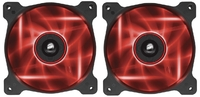 120mm Corsair AF120 LED Fan Twin Pack - Red