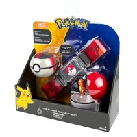Pokémon: Poke Ball Belt (Fire) - Clip N Carry Set