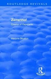 : Zamenhof (1960) by Marjorie Boulton