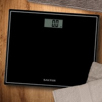 Salter: Compact Glass Electronic Personal Scale - Black