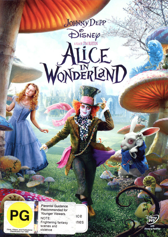 Alice in Wonderland on DVD