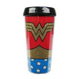 Wonder Woman Uniform Glittery Travel Mug