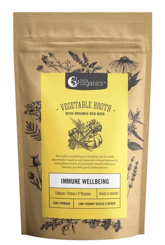 Nutra Organics Vegetable Broth - Low FODMAP (100g)