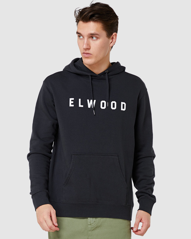 Elwood: Mens Basic Hood - Vintage Black (X-Large)