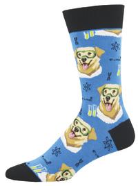 Socksmith: Men's Science Lab Crew Socks - Blue