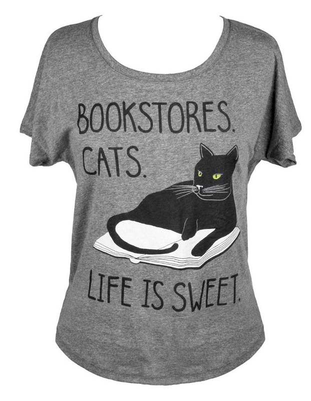 Out of Print: Book Store Cats Women's Dolman Tee - XS