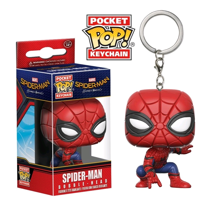 Marvel - SpiderMan: Homecoming - SpiderMan Pop! Keychain image