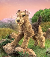 Folkmanis: Hand Puppet - Airedale Terrier