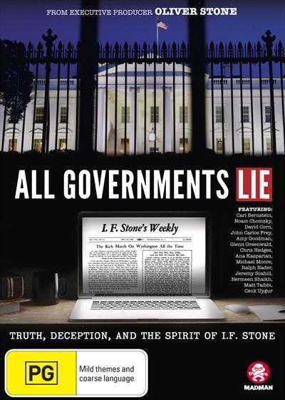 All Governments Lie: Truth, Deception, and the Spirit of I.F. Stone on DVD image