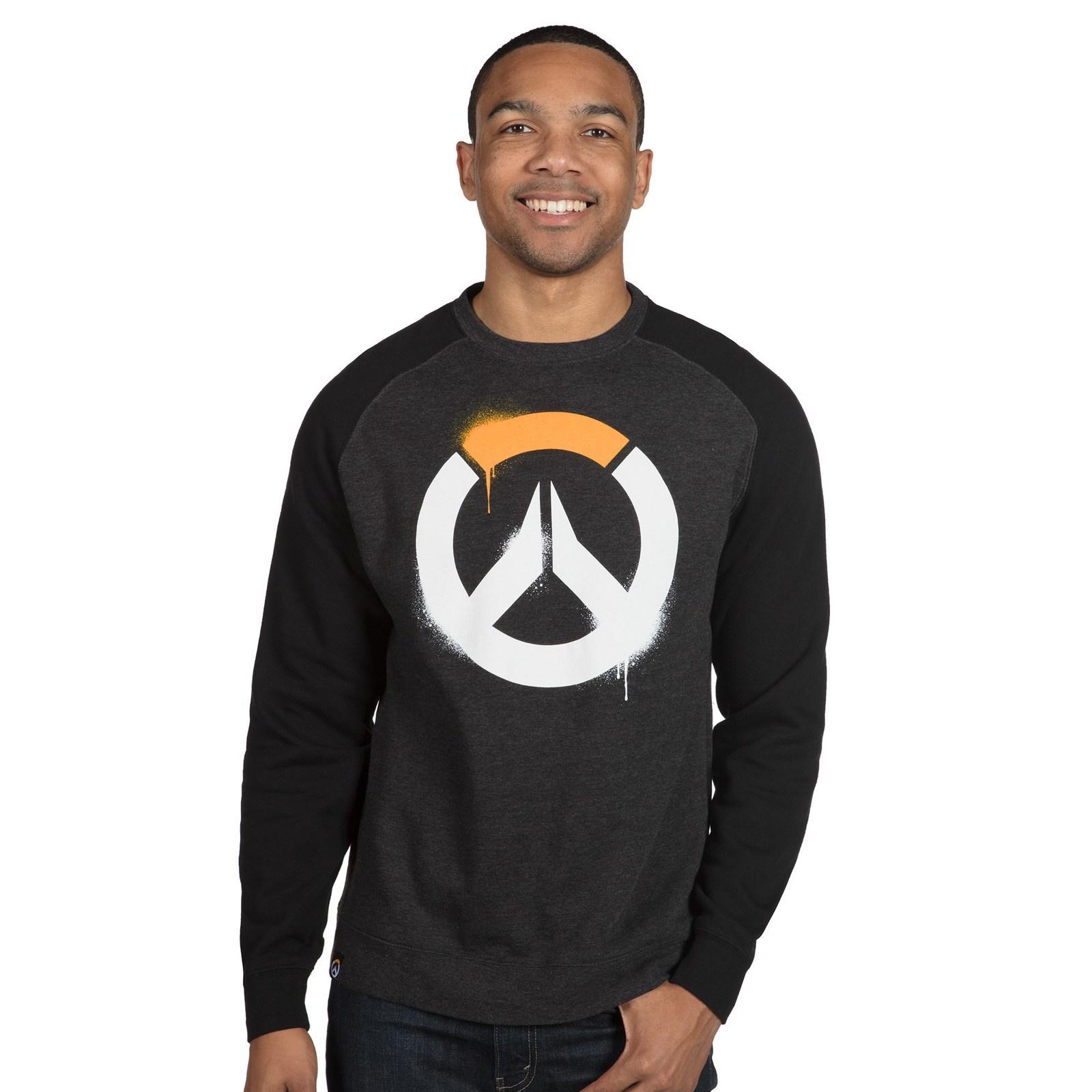 Overwatch Stencil Logo Raglan Pullover Sweatshirt (L) image