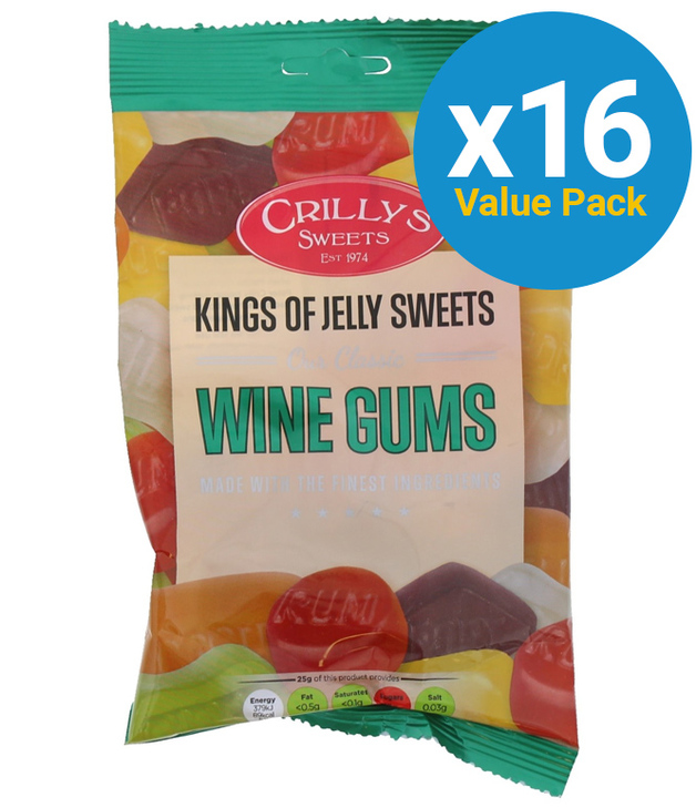 Crillys: Wine Gums 150g (16 Pack)