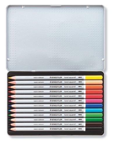 Staedtler: Karat Aquarell Professional Watercolour Pencils - Tin of 12 image
