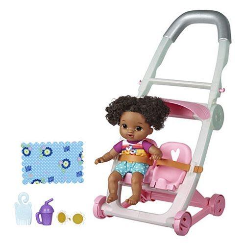 Baby Alive: Littles Roll & Kick Stroller - (Dark Hair/Girl)