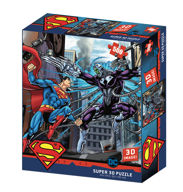 Super 3D: 300pc DC Comic Puzzle - Superman Fight Scene