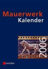 Mauerwerk Kalender: 2006 image