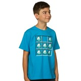 Minecraft Diamond Crafting Youth T-Shirt - Turquoise (Medium)