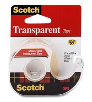 Scotch 600 Transparent Tape with Dispenser 19mm x 7.62m