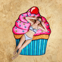 BigMouth Gigantic Cupcake Beach Blanket