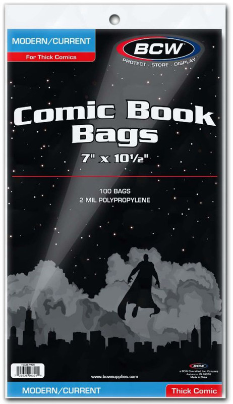 """BCW: Comic Book Bags - Thick Current (7"""" x 10.5"""")"""