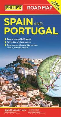 Philip's Spain and Portugal Road Map image