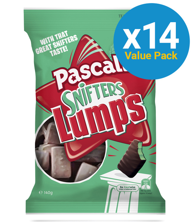 Pascall: Snifters Lumps 140g (14 Pack)