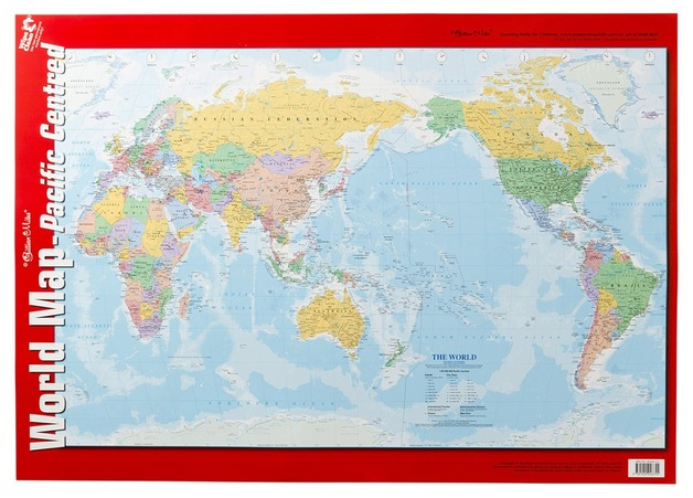 Buy gillian miles world map wall chart at mighty ape nz gillian miles world map wall chart gumiabroncs Images