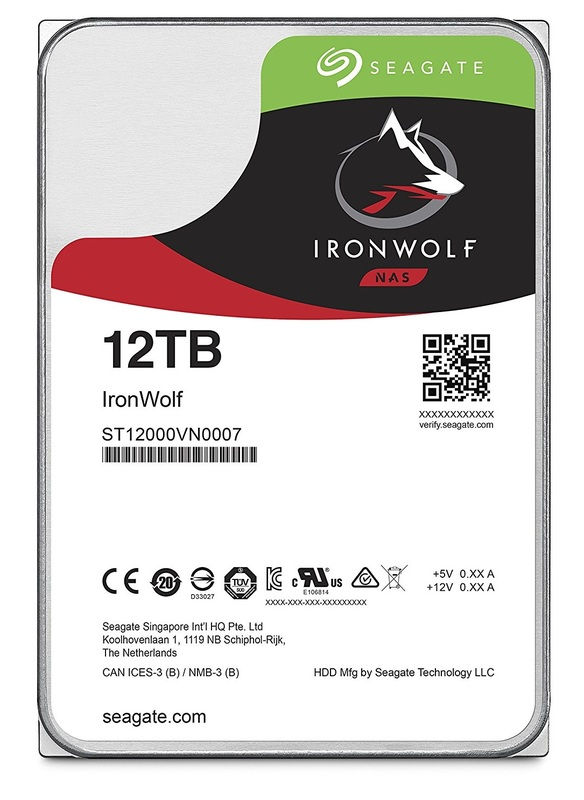 "12TB Seagate: IronWolf [3.5"", 6Gb/s SATA, 7200RPM] - Internal NAS Hard Drive"