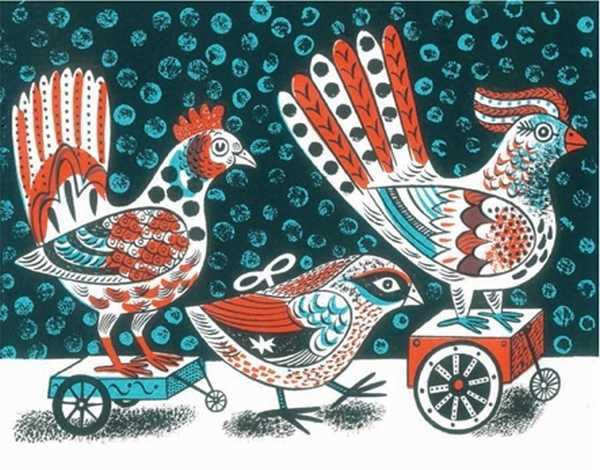 Canns Down Press:Boxed Christmas Cards - Clockwork Birds