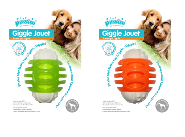 Pawise: Giggle Jouet Ball - 8 cm