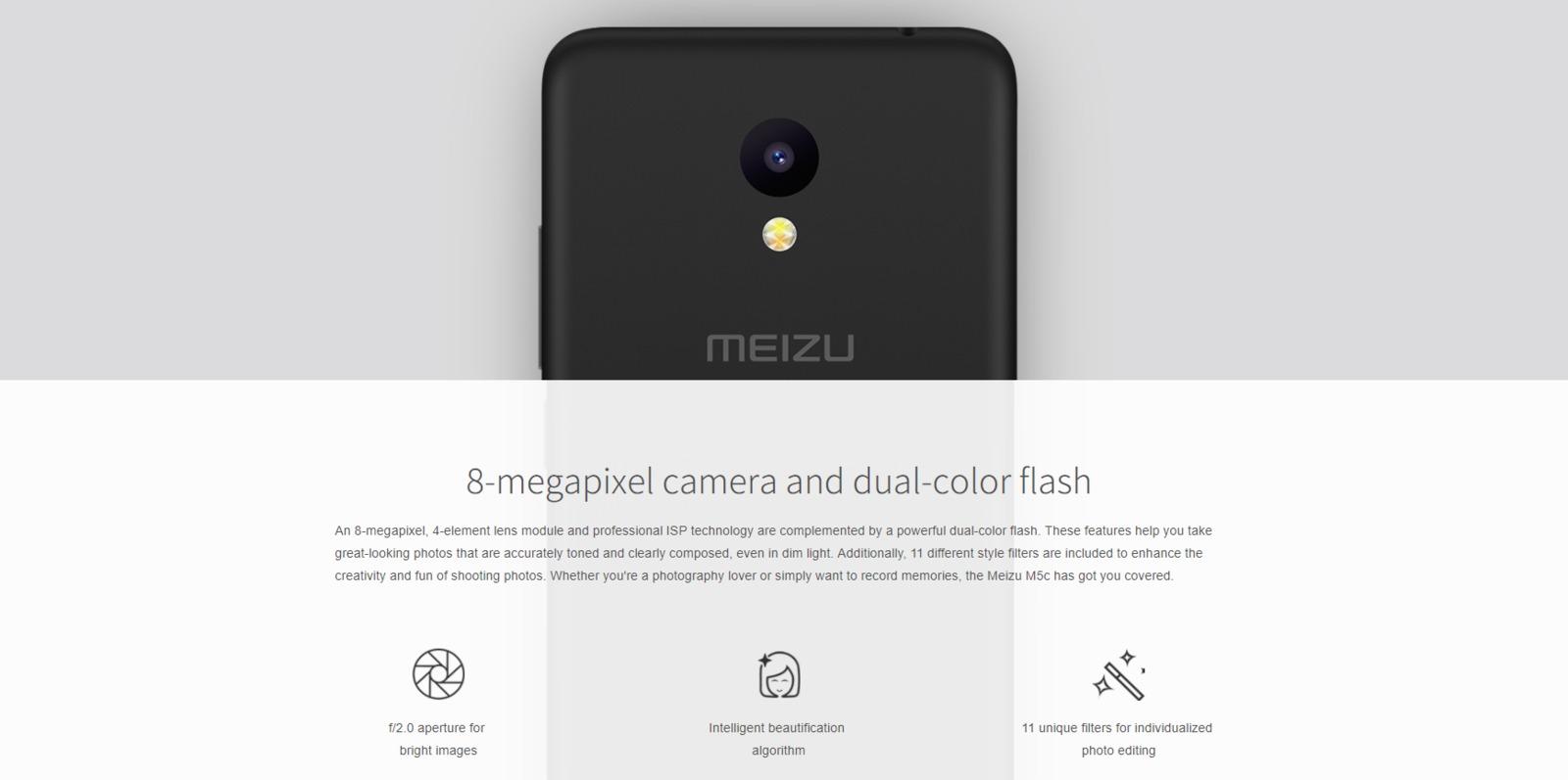 MEIZU M5c Smartphone 16GB - Black image