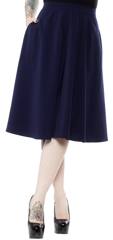 Sourpuss: Circle Skirt Blue (S)