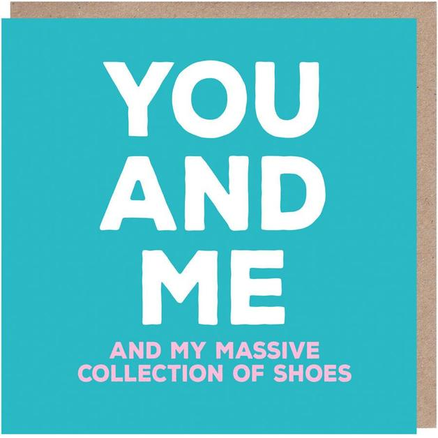 Mixed Messages: You and Me Anniversary Love Card