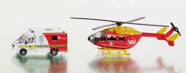 Siku: LifeFlight Westpac Rescue Helicopter with Ambulance 1:87