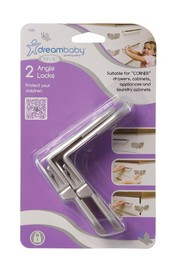 Dream Baby Angle Locks (Silver) - 2 Pack