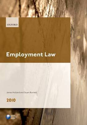 Employment Law: LPC Guide: 2010 by James A. Holland image
