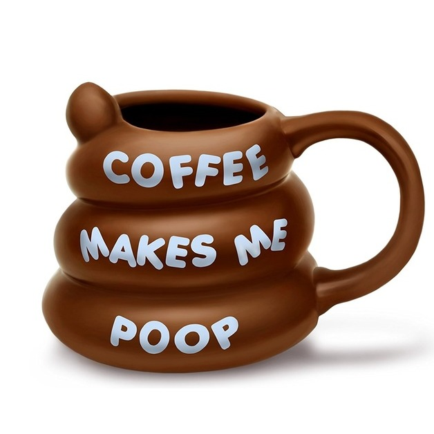 Bigmouth: Coffee Makes Me Poop Mug