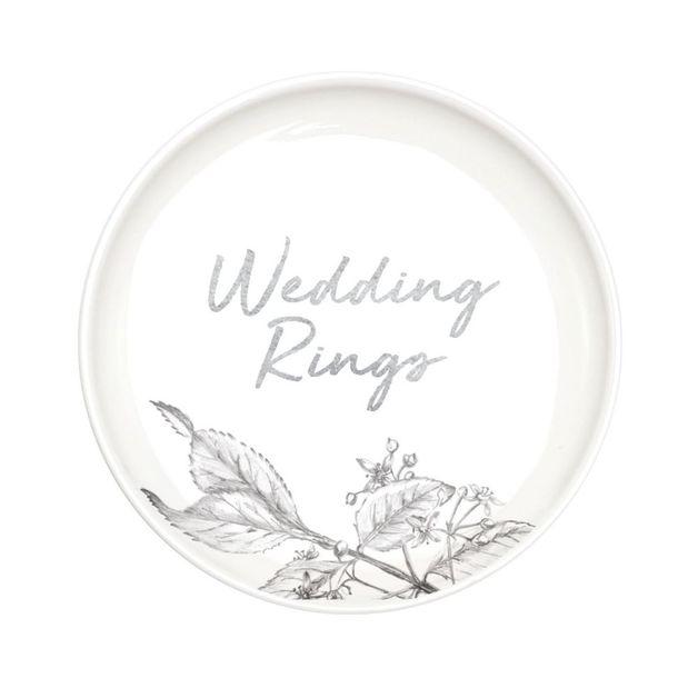Wedding Trinket Plate - Wedding Rings