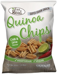 Eat Real Quinoa Chips - Chilli & Lime (80g) image