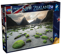 Holdson: Pieces of New Zealand - Series 4 - Mitre Peak Mossy Rocks - 1000 Piece Puzzle image