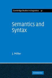 Semantics and Syntax by J. Miller image