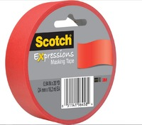 Scotch Masking Tape - 22mm (Primary Red)