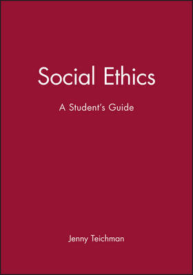 A Social Ethics by Jenny Teichman image