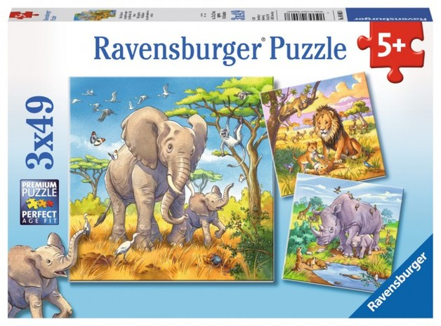 Ravensburger: Wild Animals - 3x49pc Puzzle