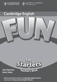 Fun for Starters Teacher's Book by Anne Robinson image