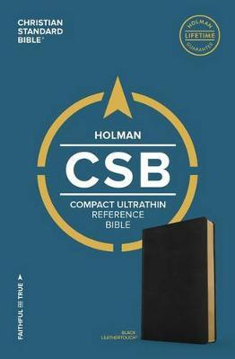 CSB Compact Ultrathin Bible, Black LeatherTouch by Csb Bibles by Holman